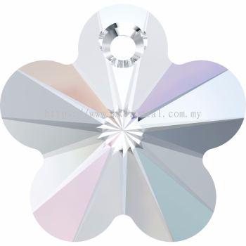 Swarovski 6744 Flower Pendant, 14mm, Crystal AB (001 AB), 2pcs/pack