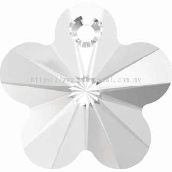 Swarovski 6744 Flower Pendant, 12mm, Crystal (001), 4pcs/pack