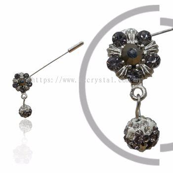 Pin Brooch 7018#, Silver, 2pcs/pack