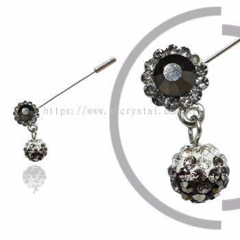 Pin Brooch 7039#, Silver, 2pcs/pack