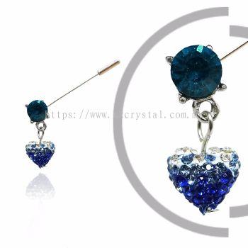 Pin Brooch 7024#_A, Blue, 2pcs/pack