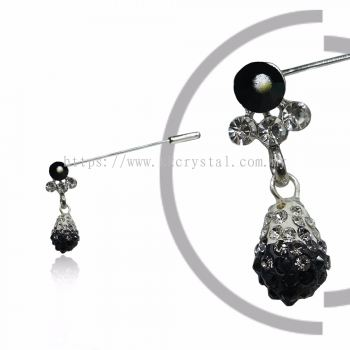 Pin Brooch 7045#_A, Black, 2pcs/pack