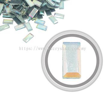 Flatback Hotfix 603, Rectangular (Flat), 5x10mm, Crystal AB, 360pcs/pack