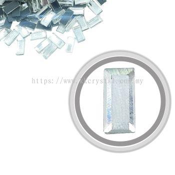 Flatback Hotfix 603, Rectangular (Flat), 5x10mm, Crystal, 360pcs/pack
