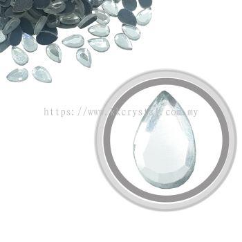 Flatback Hotfix 608, Pear Drop, 5x8mm, Crystal, 360pcs/pack