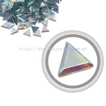 Flatback Hotfix 611, Triangle Shaped, 6x6mm, Crystal AB, 360pcs/pack