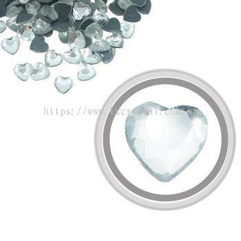 Flatback Hotfix 612, Heart Shaped, 6x6mm, Crystal, 360pcs/pack