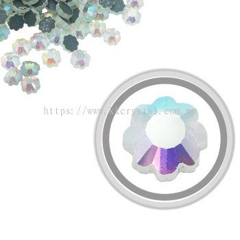 Flatback Hotfix 616, Flower Shaped, 6x6mm, Crystal AB, 360pcs/pack