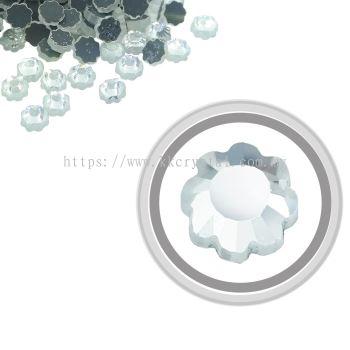 Flatback Hotfix 616, Flower Shaped, 6x6mm, Crystal, 360pcs/pack