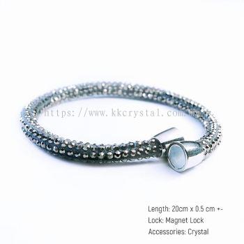 Skinny Bolster Bracelet, A12 Silver