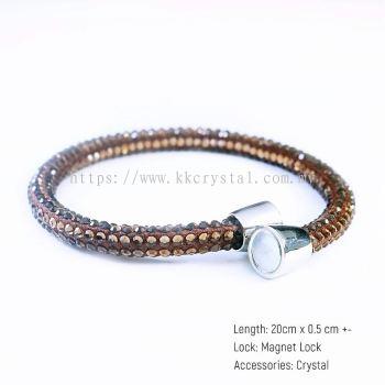 Skinny Bolster Bracelet, A13 Light Colorado Topaz
