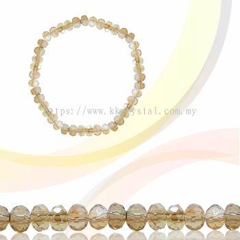 Crystal China, Donut 3mm, B85 Golden Shadow Opal AB