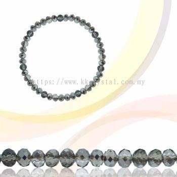 Crystal China, Donut 3mm, B118 Silver Night AB