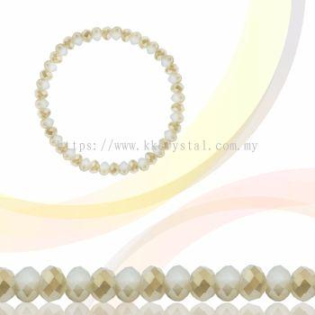 Crystal China, Donut 3mm, B285 Crystal Opal AB