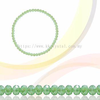 Crystal China, Donut 3mm, B54 Chrysolite AB