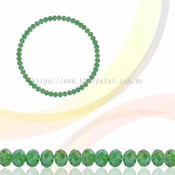 Crystal China, Donut 3mm, B55 Peridot AB