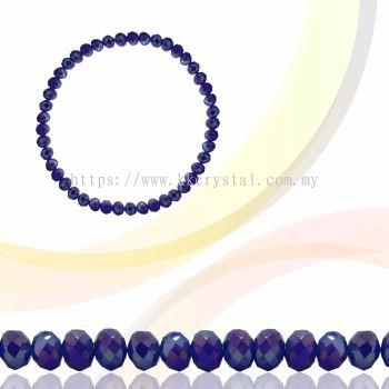 Crystal China, Donut 3mm, B57 Cobalt AB