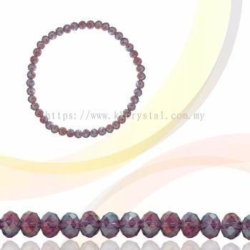 Crystal China, Donut 3mm, B61 Amethyst AB