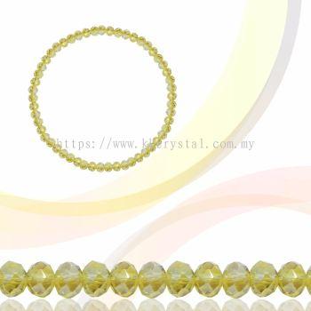 Crystal China, Donut 3mm, B62 Jonquil AB