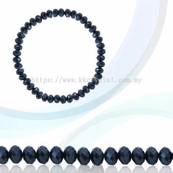Crystal China, Donut 3mm, B69 Jet Hematite 2x
