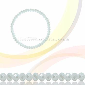 Crystal China, Donut 3mm, B70 White Opal AB