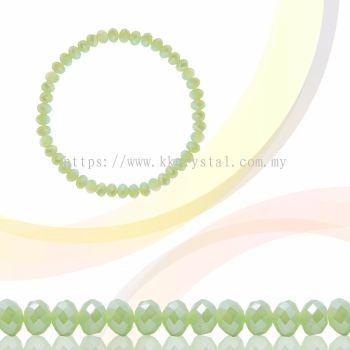 Crystal China, Donut 3mm, B71 Peridot Opal AB