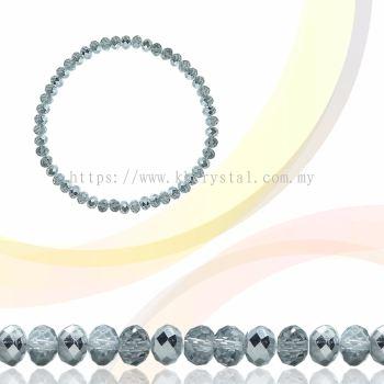 Crystal China, Donut 3mm, B75 Half Silver