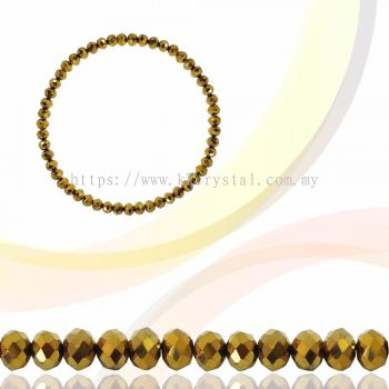Crystal China, Donut 3mm, B77 Metalic Gold