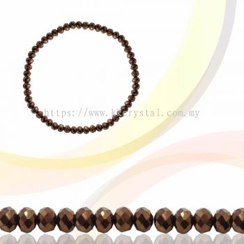Crystal China, Donut 3mm, B79 Metalic Brown