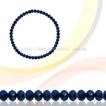 Crystal China, Donut 3mm, B82 Metalic Blue