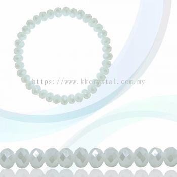 Crystal China, Donut 4mm, B70 White Opal AB