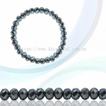 Crystal China, Donut 4mm, B78 Metalic Silver