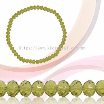 Crystal China, Donut 6mm, B18 Jonquil