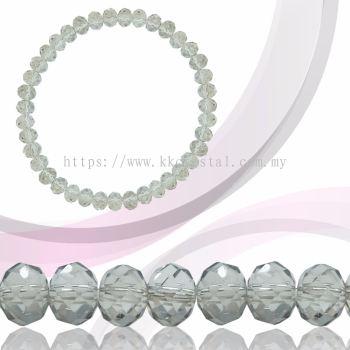 Crystal China, Donut 6mm, B83 Silver Shade