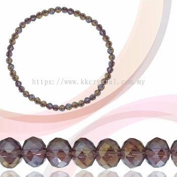 Crystal China, Donut 6mm, B61 Amethyst AB