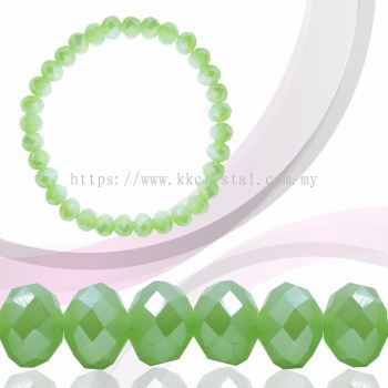 Crystal China, Donut 8mm, B71 Peridot Opal AB