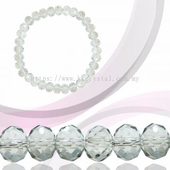 Crystal China, Donut 8mm, B83 Silver Shade