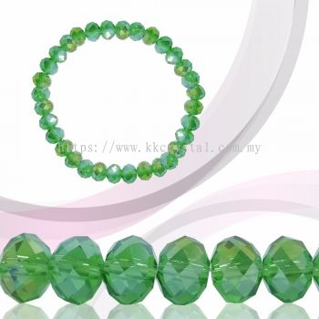 Crystal China, Donut 8mm, B55 Peridot AB