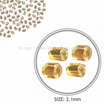 Seed Beads, Cut Beads, Gold, 11/0