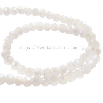 Crystal China, 4mm Round, B70 White Opal AB