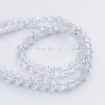 Crystal China, 4mm Bicone, B1 Crystal