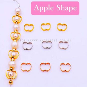 Diverter, Apple Shape, 9*11mm, 0283016, 50pcs/pkt