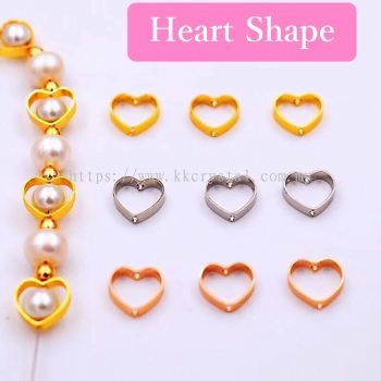 Diverter, Heart Shape, 10mm, 0283017, 50pcs/pkt