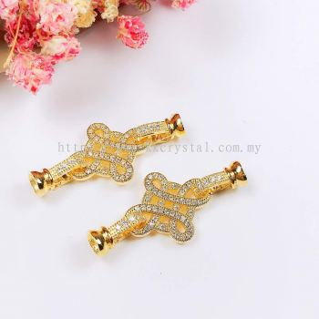 Clasp, Code A83048, Gold Plated, 2pcs/pkt