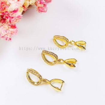 Pendant Clips, Code 0283024, Gold Plated, 5pcs/pkt