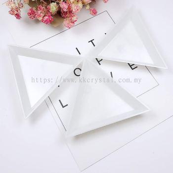Plastik Mini Sorting Tray, Triangle, 7.4cm, 5pcs/pkt