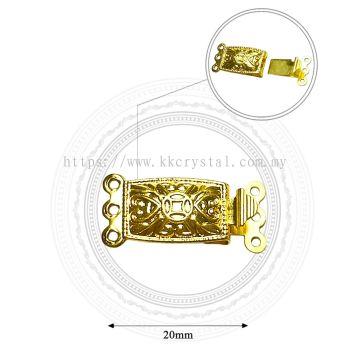 Fashion Clasp, H6530, 3Holes, Gold, 10pcs/pkt (BUY 1 GET 1 FREE)