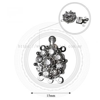 Fashion Clasp, H8934, 3Holes, Platted, 4pcs/pkt (BUY 1 GET 1 FREE)