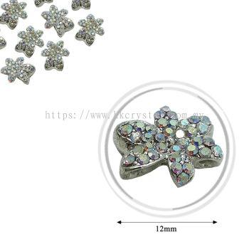Fashion Rhinestone Diverter, S1026 Silver Crystal AB 12mm, 6pcs/pkt (BUY 1 GET 1 FREE)