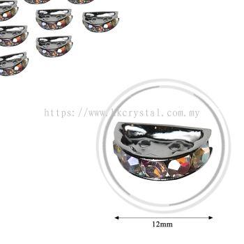 Fashion Rhinestone Diverter, S2910 Platted Crystal AB 12mm, 10pcs/pkt (BUY 1 GET 1 FREE)